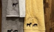 donkey- shower towels yellow