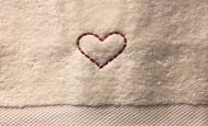 heart- guest- towels