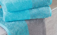 "shower towel ""two-tone"" - luxury home collection"