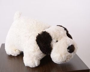 Foldable cushion - Dog (white)